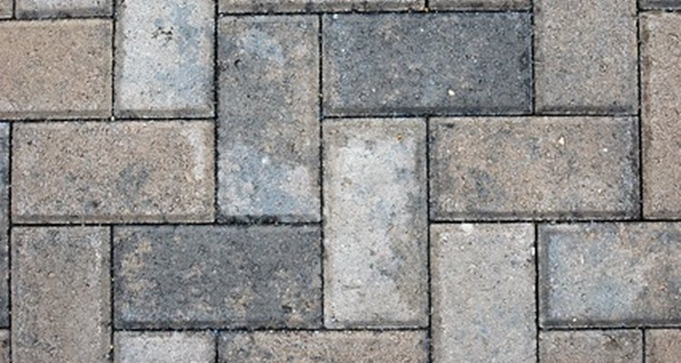Bricks can be laid in a variety of patterns.