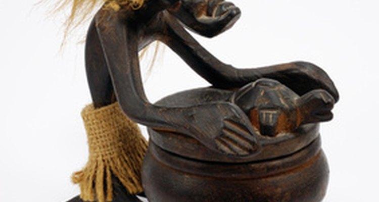 Enfeite de cerâmica africana