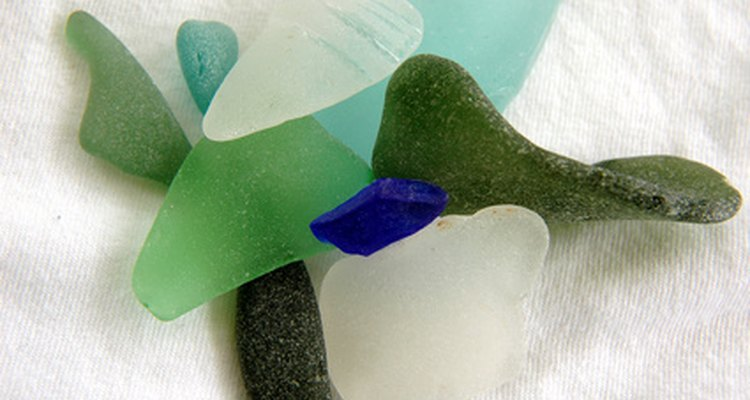 Sea glass comes in a variety of colours.