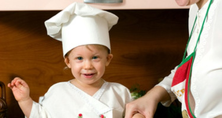Have your child help you cook dinner.
