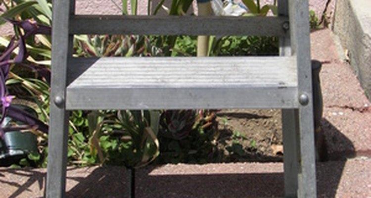 Aluminium step ladders bring cash at a scrap yard.