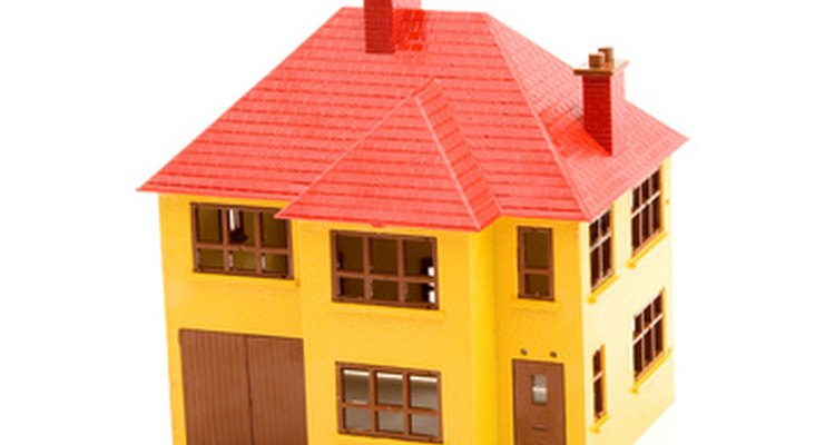 Toy houses are simple to make.