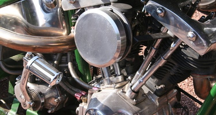 Early model Harley-Davidson V-twin engine