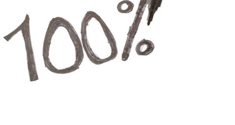 As porcentagens expressam números como frações de 100