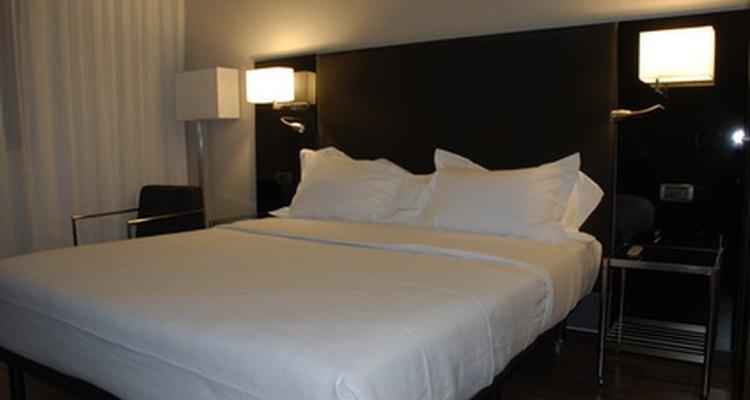 Soft lighting sets a mood for restful sleep.