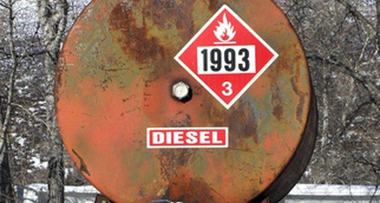 Los tanques de almacenamiento de diesel deben estar etiquetados adecuadamente como combustible.