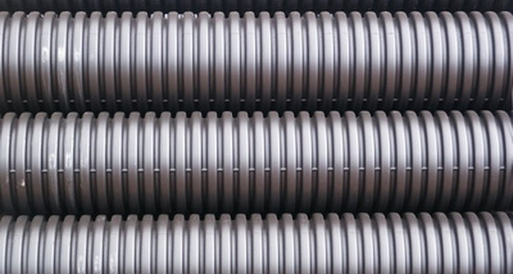 Corrugated pipes are also often used for drainage and irrigation.