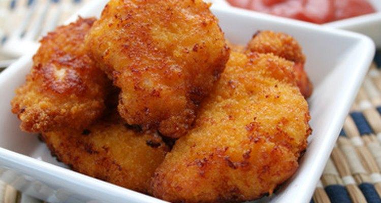O tempo de fritura dos nuggets de frango pode variar com o seu tamanho