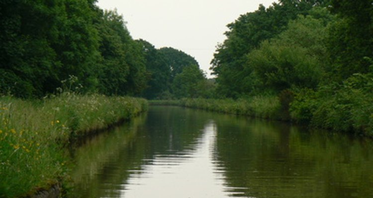 Canals are man-made, not natural.