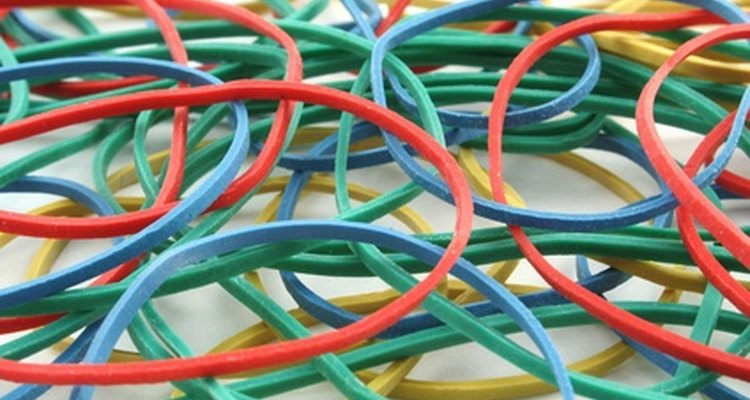 A rubber band supplies enough power to propel a lightweight aeroplane.