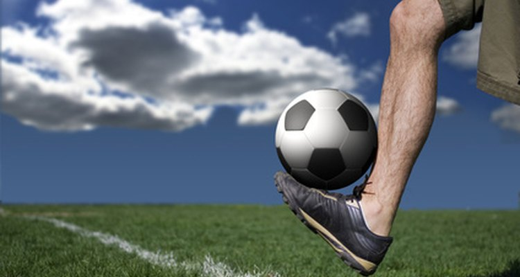 Calf muscle injury can happen during sporting events.