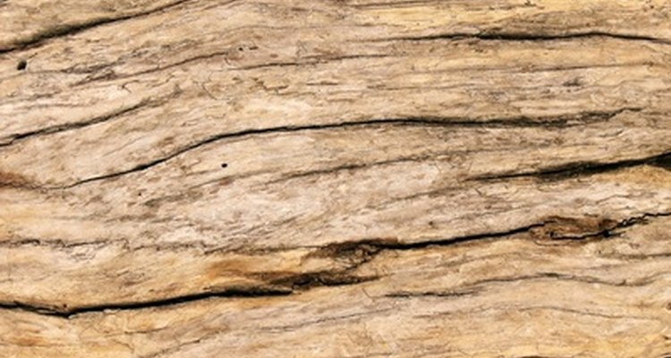 Wood is treated with copper sulphate to prevent fungal growth.