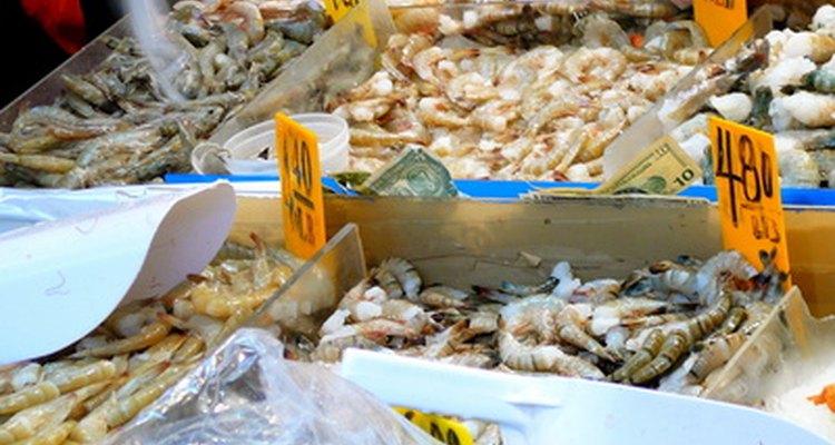 Frutos do mar contém quantidades residuais de bromo, que ocorrem naturalmente em ambientes marinhos