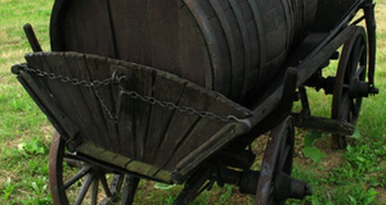 Whiskey barrels are easily recycled into container gardens.