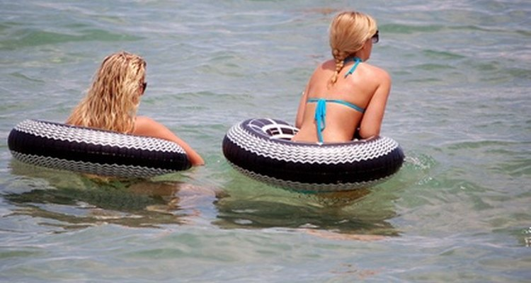 Teenagers who rely on their parents to fund their fun activities can skirt the issue by engaging in free fun, such as inner-tubing.