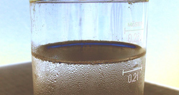 Perform a strand test using a glass of water.