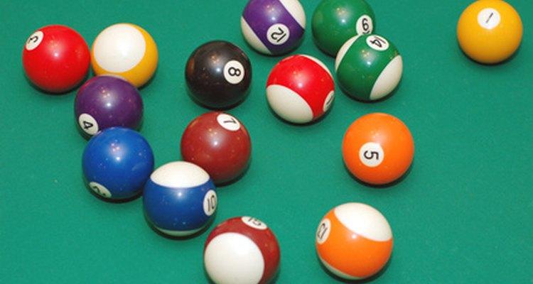 As cores das bolas de sinuca raramente variam de um local para o outro