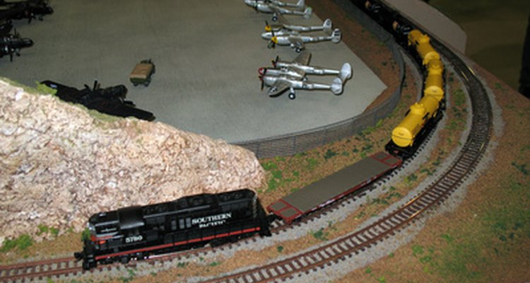 Repairs to model train engines can typically be done in about an hour.