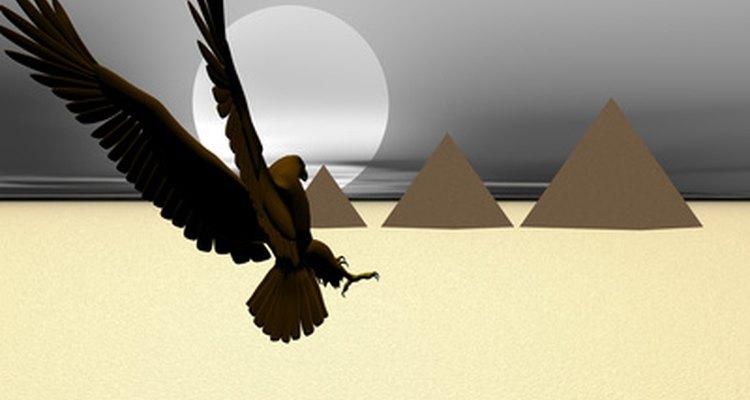 Las pirámides en Giza fueron tumbas y monumentos para sus faraones.