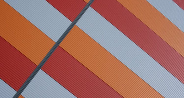 Plastic corrugated roofing panels come in a variety of colours.