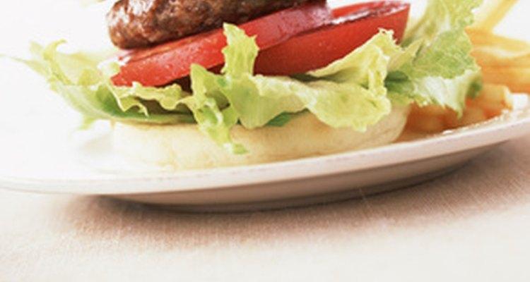 Hamburguesa sin queso y tocino.
