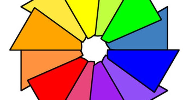 Rodas de cor são outra forma de encontrar cores complementares num relance. O complemento de uma cor fica sempre diretamente oposto a ela
