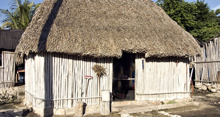 Traditional Mayan-style homes are still built and used today.
