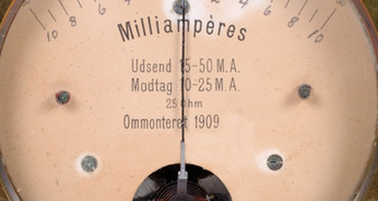 Ohmmeters test the resistance and current between two leads.
