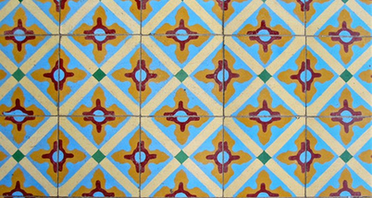 Porcelain tiles can be painted and decorated in a number of styles.
