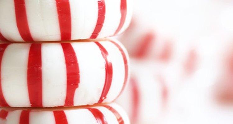 O caramelo com sabor de hortelã é um presente saboroso