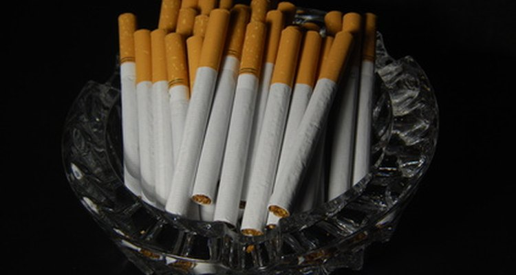 Cigarettes often leave behind a yellow residue on wallpaper.