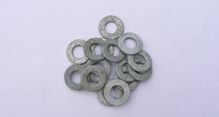 Flat washers are used on tables.