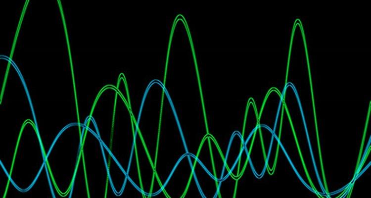 Las formas de onda de la corriente alterna muestra diferencias de fase.