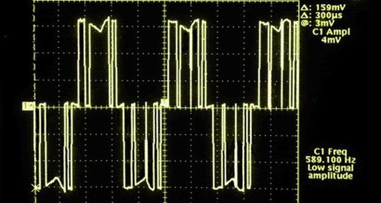 Use a lei de Ohm para calcular a corrente de tensão ao usar um osciloscópio