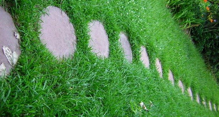 Colocar pedras de pavimentação em um quintal gramado é um processo simples
