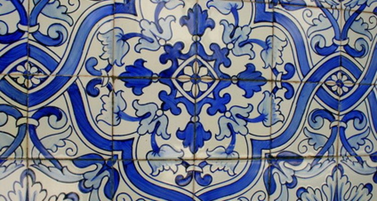 Cover up decorative tile in your kitchen with tile paint.