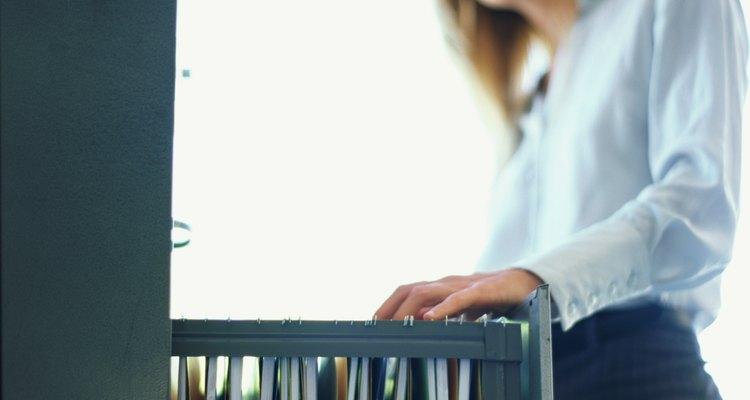 Los archivadores son muy comunes en los lugares de trabajo.
