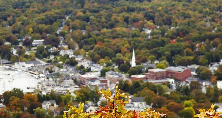 Camden State Park ofrece hermosas vistas de los colores del otoño.
