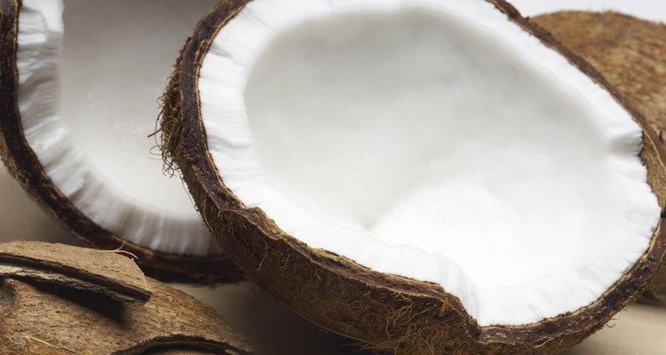 Halved coconuts