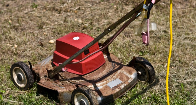 Donate, sell or recycle an old lawnmower.