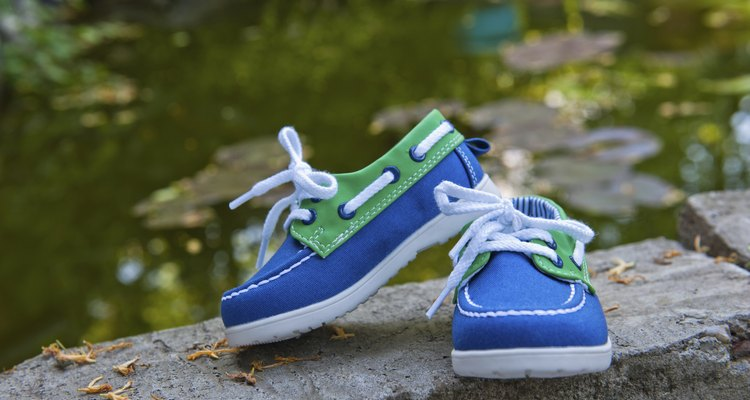 green and blue shoes