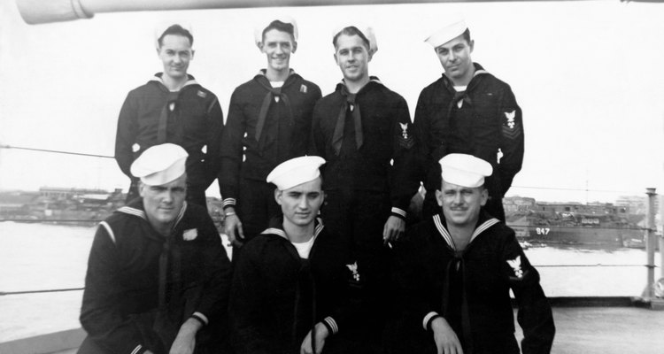 Vintage image of sailors