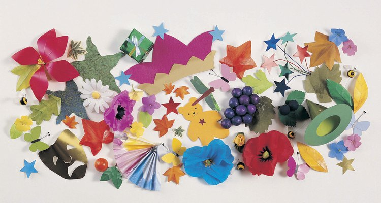 Origami paper's colourful patterns add interest to even the simplest folded shapes.