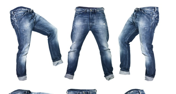 You will have to redye your jeans to get rid of white marks.