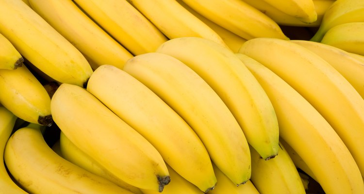 Background of many bananas