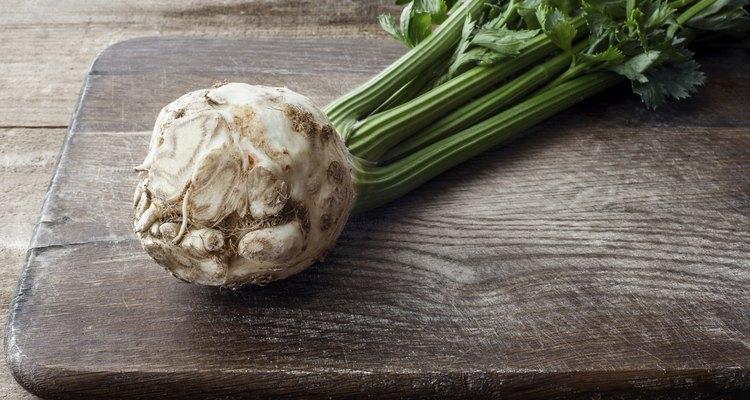 Organic celery  Organic celery root celery and leaves of celery