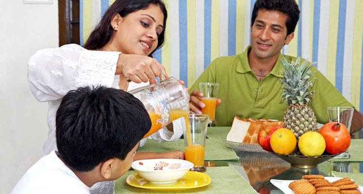 A refeição em família é um momento de convivência