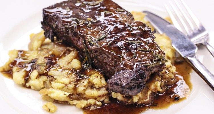 Steak with Potato Puree