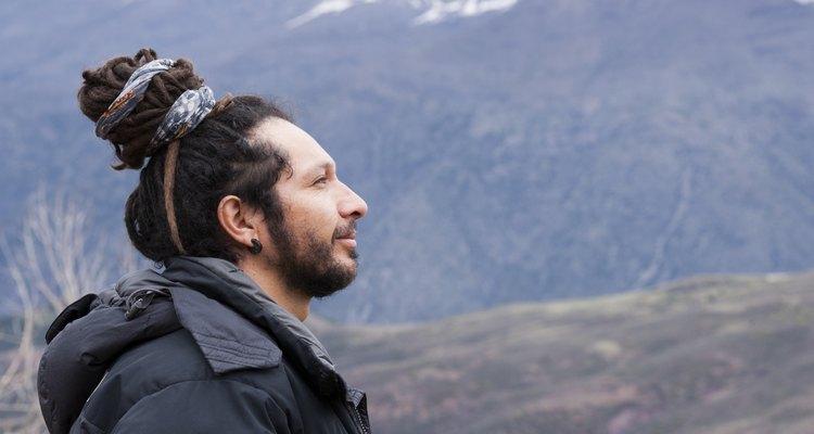 Mountain man in dreadlocks
