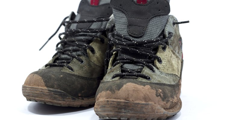 dirty hiking shoes